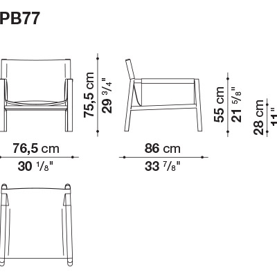 B&B Italia Pablo fauteuil