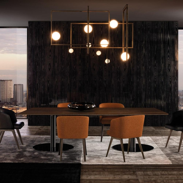 Minotti Bellagio Dining Pewter eettafel